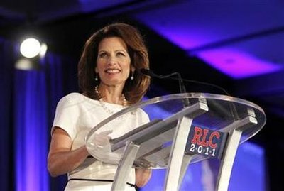 Rep. Michele Bachmann (R-MN) speaks during the Republican Leadership Conference in New Orleans, Louisiana June 17, 2011.  REUTERS/Sean Gardner