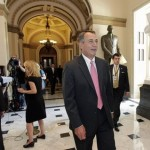 House Speaker John Boehner of Ohio, walks from the House floor on Capitol Hill in Washington, Friday, June 24, 2011, during debate over funding for U.S. military action in Libya.  (AP Photo/J. Scott Applewhite)