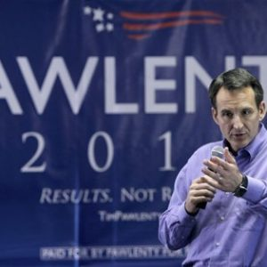 Republican presidential candidate, former Minnesota Gov. Tim Pawlenty speaks in Urbandale, Iowa. Pawlenty is trailing in polls and low on cash. He's betting the future of his presidential campaign on Iowa, and a late summer test vote could make or break him. (AP Photo/Charlie Neibergall, File)