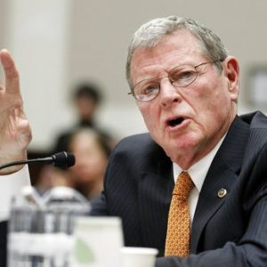 Sen. James Inhofe, R-Okla., testifies on Capitol Hill in Washington. After Inhofe landed his small plane on a closed runway at a rural South Texas airport last October sending workers on the ground scrambling, he was ordered by the Federal Aviation Administration to take remedial piloting lessons. Now, the Oklahoma Republican is seeking to give the FAA a lesson in politics. (AP Photo/Manuel Balce Ceneta, File)