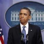 President Obama: Glum's the word (Reuters)