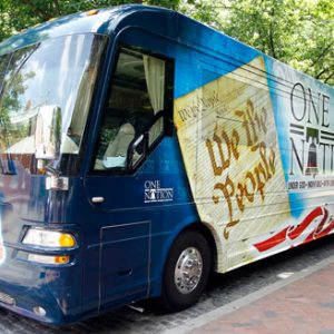 "Palin's bus and its $14,000 ""bus wrap"""