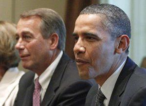 Speaker of the House John Boehner and President Barack Obama: Plenty of blame to go around (AP)