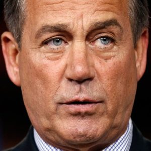 House Speaker John Boehner of Ohio talks about the break down of debt ceiling talks with the White House during a news conference on Capitol Hill in Washington. (AP Photo/Alex Brandon)
