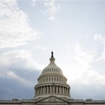 Clouds pass over Capitol Hill in Washington. REUTERS/Joshua Roberts