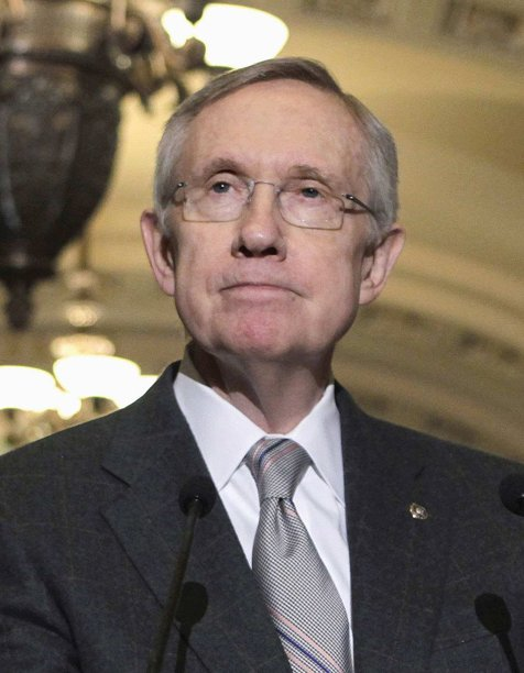 Senate Majority Leader Harry Reid of Nev. takes part in a news conference on Capitol Hill in Washington. Congress has reached a bipartisan compromise to end the partial shutdown of the Federal Aviation Administration that has left 74,000 transportation and construction workers idled, Reid said Thursday. (AP Photo/J. Scott Applewhite, File)