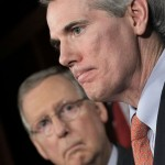 Sen. Rob Portman, R-Ohio, right, accompanied by Senate Minority Leader Mitch McConnell of Ky., speaks on Capitol Hill in Washington. Portman has been name to the powerful new committee that will try to come up with a bipartisan plan this fall to reduce the federal budget deficit by more than $1 trillion. (AP Photo, File)