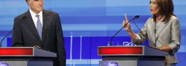 Pawlenty, Bachmann tear into each other in GOP debate