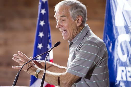 Republican presidential contender, Rep. Ron Paul, R-Texas, speaks at a restaurant at the Polk County GOP summer picnic event held at the Iowa State Fairgrounds in Des Moines, Iowa on Saturday, Aug. 27, 2011. (AP Photo/Nati Harnik)
