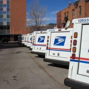Postal service trucks