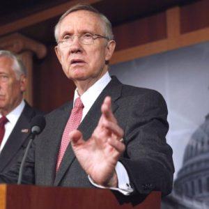 Senate Majority Leader Harry Reid (right) and House Minority Leader Steny Hoyer: Just say no (AP Photo/Jacquelyn Martin)