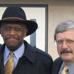 Herman Cain and Mark Block