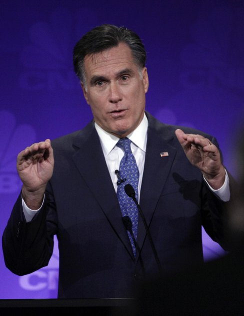 Romney scores big in debate while challengers flounder