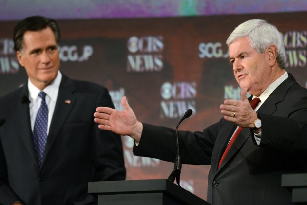Romney, Gingrich shine in latest GOP debate