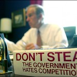 A sign on Ron Paul's desk: Amen, brother