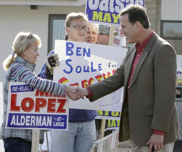 GOP Presidential candidate Rick Santorum (AP Photo/Jim Cole)