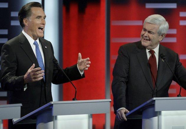 Mitt Romney and Newt Gingrich (ABC/Matthew Putney)