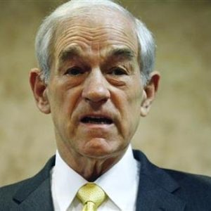 """Dr. Doom"" Ron Paul speaks in Iowa (REUTERS/Joshua Lott)"