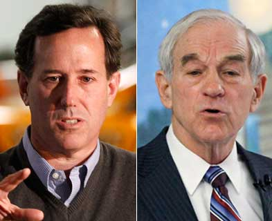 Truth is a stranger to Ron Paul, Rick Santorum