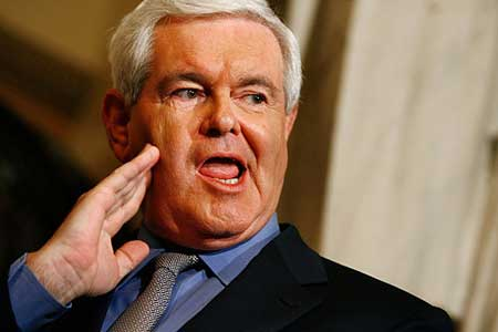 Newt Gingrich: The mouth that roared
