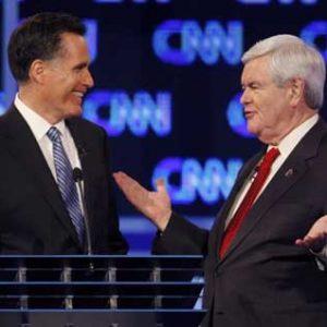 GOP candidates Mitt Romne & Newt Gingrich