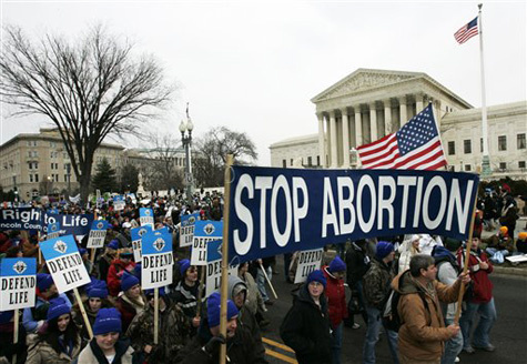 Abortion protest in Washington (AP Photo/Haraz N. Ghanbari)
