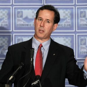Republican presidential candidate, former Pennsylvania Sen. Rick Santorum speaks during a Economic Club of Detroit luncheon in Detroit, Thursday, Feb. 16, 2012. (AP Photo/Paul Sancya)