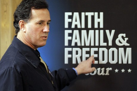 Santorum finds campaign gold in social issues