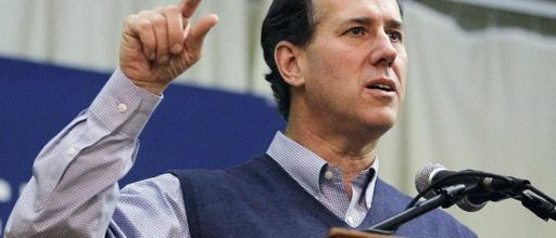 Rick Santorum's risky running game