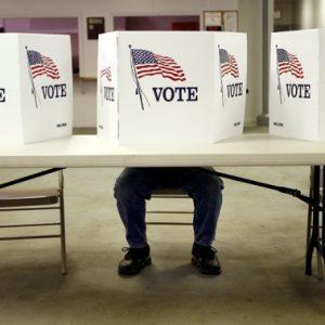 A voter casts a ballot Tuesday in Flushing, Ohio (REUTERS/Matt Sullivan)