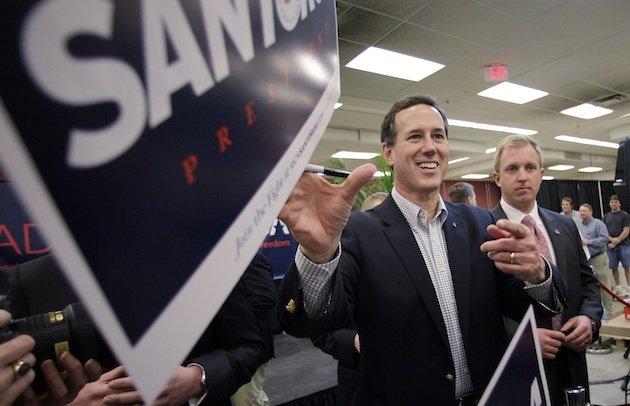 Santorum wins Kansas  but Romney scores more delegates elsewhere