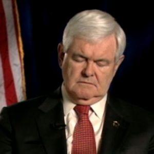 Newt Gingrich dozes off