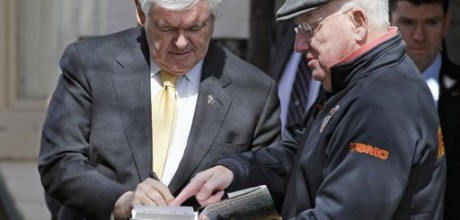 Gingrich fires third of campaign staff, cuts back on schedule