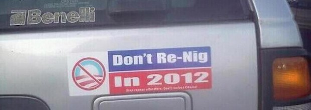 Racist anti-Obama bumper sticker sparks debate, disappears from web site selling it