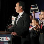 Rick Santorum: Hanging in there too long? (JASON COHN/REUTERS)