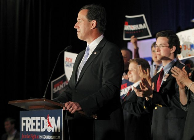 GOP leaders to Santorum: Get out now if you want a future in party
