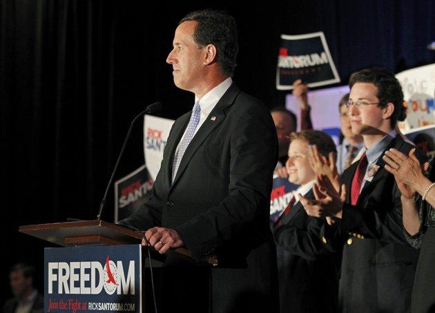 Rick Santorum: Hanging in there too long? (JASON COHN/REUTERS)