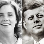 Mimi Alford (left) as a 19-year-old intern who lost her virginity to President John Kennedy