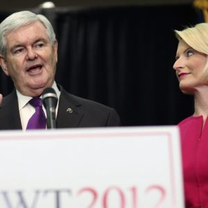 Newt Gingirch and trophy wife Callista (Reuters/Benjamin Myers)