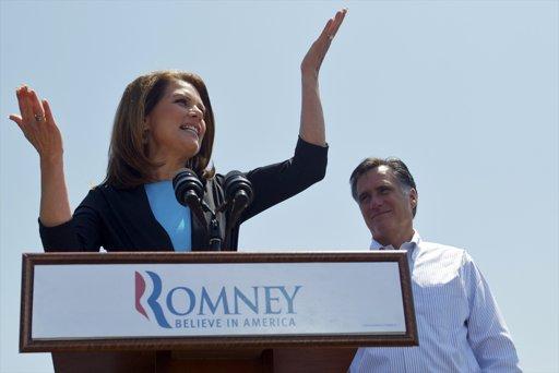 Romney picks up endorsement from Bachmann:  Santorum next?