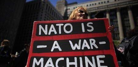 Anti-war protestors target Obama campaign headquarters