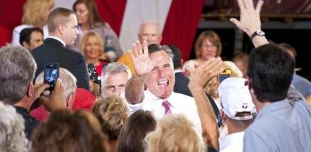 Romney gaining ground with women, tied with Obama in battleground states