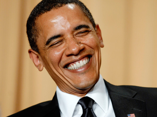 President Barack Obama:  Why is this man laughing?