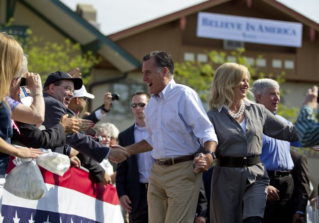 A relaxed, laid-back Romney?  That's the report from the boys and girls on the bus