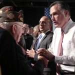 Gov. Mitt Romney meets with veterans (AP)