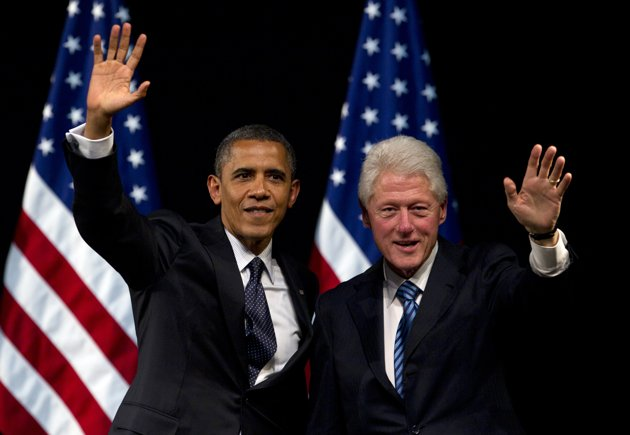 Obama and Clinton (AP Photo By Carolyn Kaster)