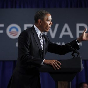 President Barack Obama speaks at a campaign fundraiser in Stamford, Conn., Monday, Aug., 6, 2012. 