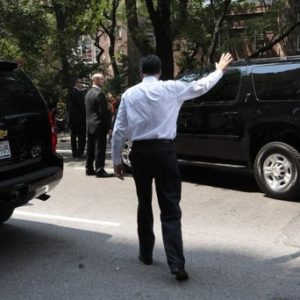 Republican presidential candidate, former Massachusetts Gov. Mitt Romney waves to onlookers as he leaves a finance event on 5th Ave in New York, Thursday, Aug. 9, 2012.  (AP Photo/Mary Altaffer)