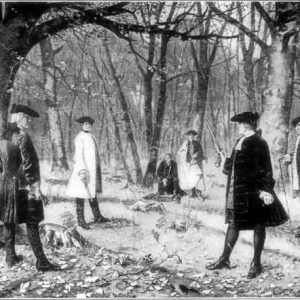 The duel between Alexander Hamilton and Aaron Burr:  One way to settle political differences
