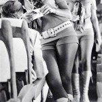 Southwest Airlines flight attendants in their hot pants during carrier's earlier days.